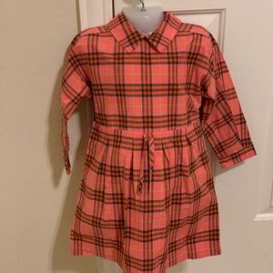 Burberry toddler girl checked dress size 3 years